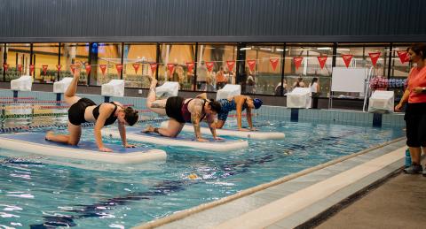 Aquatic fitness timetable